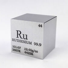 Presale 1 inch 25.4mm Ruthenium Metal Cube 203g 99.9% Engraved Periodic Table