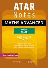 ATAR Notes HSC Mathematics Advanced Year 12 Topic Tests (NEW SYLLABUS)