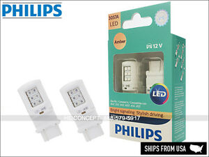 3057 PHILIPS ULTINON LED Turn Signaling Bulbs AMBER 3057AULAX2 (Pack of 2)