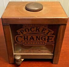Vintage  Wooden   Coin  Change  Box  Pocket Change Machine  Patented  1904