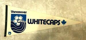 VINTAGE 1970's Vancouver Whitecaps NASL Soccer 29 Inch Pennant flag banner