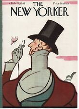 NEW YORKER MAGAZINE ORIGINAL COVER DATED 28 FEB 1948 FEATURING EUSTACE TILLEY