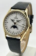 Concord Classic Complete Calendar Moonphase 1138675 18K YG Men's Watch 34mm B&P
