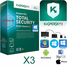 ANTIVIRUS KASPERSKY TOTAL SECURITY 3PC/DISPOSITIVOS  1 AÑO  ENVIO POR EMAIL