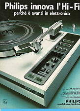(AM) EPOCA975-PUBBLICITA'/ADVERTISING-1975- PHILIPS GA 209 IL GIRADISCHI