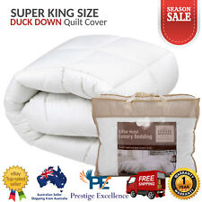 Super King Down Duvet Quilt Cover Duck Feather Doona All Season Blanket Size NEW