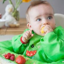 BIBaDO Catch it All, Cover All Full Cover Baby Led Weaning Bib - Original Green