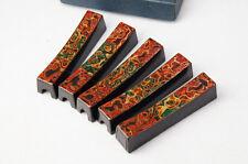 Japan TSUGARU-NURI URUSHI Wood Chopsticks Rest 5pc Toothpick Pocket F/S 563k44