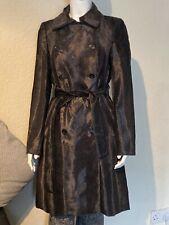Karen Millen Women Pony Fur  Leopard Print Military Coat Size uk 8 Rrp£250