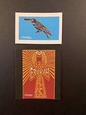 Emek Art Print Poster Pack (2) Bird Gun And Erykah Badu Silkscreen Signed Minis