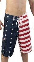 Patriotic American USA FLAG Board Shorts/Swim Trunks