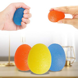 QIUDI Gel Hand Balls [3PCS], Therapy Exercise Gel Squeeze Balls for Arthritis