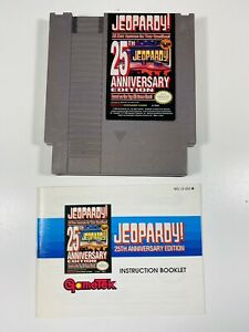 Jeopardy 25Th Anniversary Edition NES Nintendo Game + INSTRUCTIONS MANUAL BOOK