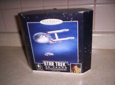 "1996 Hallmark ""STAR TREK 30 YEARS"" Set of 2 Ornaments & Display Base-MAGIC-MIB"