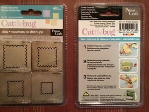 CUTTLEBUG SCALLOPED SQUARES 4 - 2 X 2 DIES - #37-1218 NEW IN PACKAGE