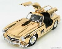 1:18k Chrome Gold MercedesBenz 300SL Gullwing Jewelry plated chain ring car gift