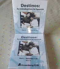 DESTINOS  AN INTRODUCTION TO SPANISH PART I - PART II Episodes 1 - 52