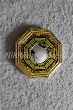 "4.8"" Chinese Oriental Protection Feng Shui Home House Gold Bagua Convex Mirror"