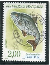 STAMP / TIMBRE FRANCE OBLITERE N° 2663 POISSON FAUNE GARDON