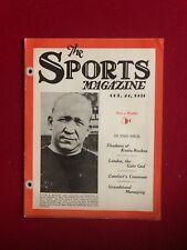 "1931, Knute Rockne, ""The Sports Magazine"" (Scarce)"