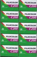 FUJIFILM COLOR  200  36 Aufnahmen   10 Filme  MHD/expiry date  02/2022