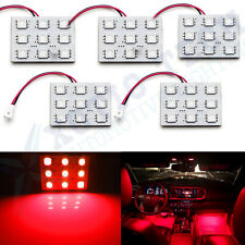 5pcs Festoon T10 Wedge Red LED 9-SMD Panel Interior Dome Map Lights for Chevy