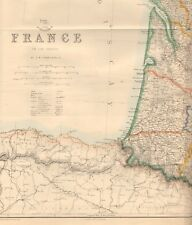 1863  LARGE ANTIQUE MAP - DISPATCH ATLAS- FRANCE