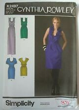 Cynthia Rowley Dress In Three Lengths Various Neckline Size 12-20 Sewing Pattern