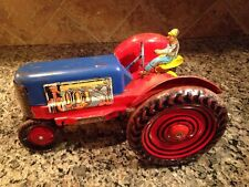 Vintage Marx Tin Tractor With Driver 1950s Tractor