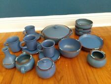 Dansk Mesa Blue SET 18LOT Casserole Bowls plates sugar creamer vase Cups Saucers & Mesa Blue Dansk China u0026 Dinnerware | eBay