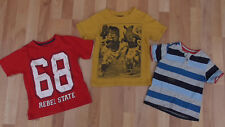 Boys T-shirt Bundle, 4-5 Years F&F,TU,Primark Red,Yellow,Striped