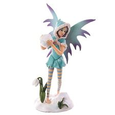 Turquoise Snow Fairy with Snowball 24.5cm High Mystic Realms Fantasy Faerie
