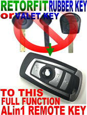 RETROFIT VALET OR RUBBER KEY TO FUNCTIONAL FLIP REMOTE KEYLESS ENTRY CHIP FOB E9