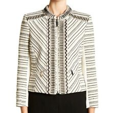 Ted Baker Orlli Embellished Bouclé Cropped Jacket In Ivory Ted 5 US 12