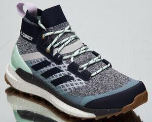 adidas Terrex Free Hiker Women's Light Solid Grey Legend Ink Purple Hiking Shoes