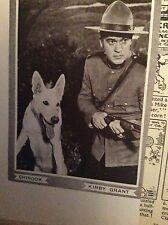 F8-1  Ephemera 1940s picture chinook kirby grant film star