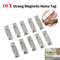 10pc Strong Magnetic Name Tag Badge Fastener ID Holder Card Magnet Self Adhesive