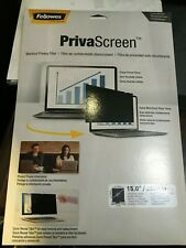 "Fellowes PrivaScreen Blackout Display Privacy Filter for 15"" Screen"