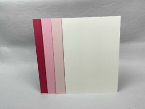 4 Colour Mix - Shades of Pink and Cream - A5 Card stock - 20 pack - Pack #1