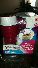 As Seen on TV Snackeez Duo 30 Piece Kit Combo Pack BPA Free RED Camping Travel