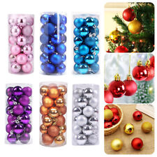 More details for 24x christmas hanging balls baubles xmas tree ornament set party wedding decor