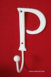 """POTTERY BARN METAL LETTER """"P"""" HOOK -NIB- IT'S GREAT FOR HANGING AROUND THE ROOM"""