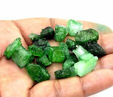 109 CT / 20 Pic Natural Top Quality Green Zambia  Emerald rough Lot  Ebey Gems.