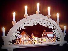 Arc à lumière à bougies 3D bonhomme de neige ville 5 figuren 57x38 cm 10