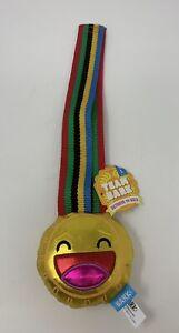 Bark Box Team Bark Retrieve The Gold Wearable Squeaky Medal Toy W/ Nylon Strap L