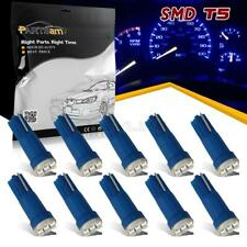 10x T5 3-SMD Blue Instrument Panel Dash LED Bulb Light Lamp 74 70 37 for Ford