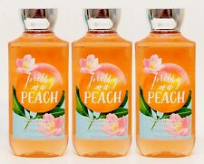 3 Bath & Body Works PRETTY AS A PEACH Body Wash Shower Gel BLONDE WOODS MUSK