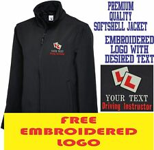 Personalizado Bordado Chaqueta Softshell conducción Instructor logotipo uniforme