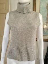 Lauren Ralph Lauren Gray Cashmere Sleeveless Turtleneck Sweater Sz S