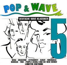 POP & WAVE 5 - Deutsche Wave Klassiker - 2CD - Limited (Nena, Trio, Grauzone,..)